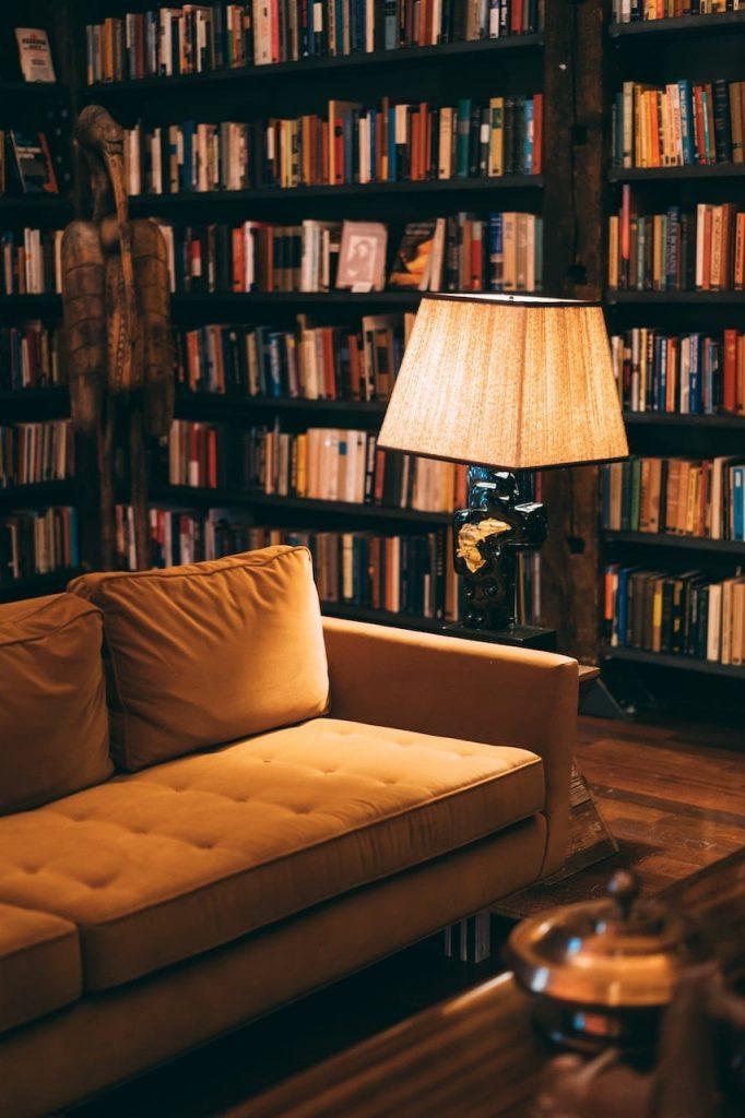 Floor Lamp, Bookcase